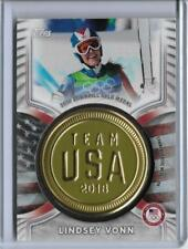 AWESOME 2018 TOPPS OLYMPICS LINDSEY VONN MEDALLION CARD ~ /99 ~ ALPINE SKIING