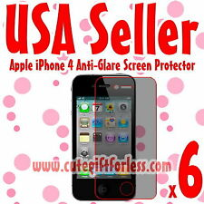 6x Anti Glare Matte Screen Protector Cover Film Guard for Apple iPhone 4S 4GS