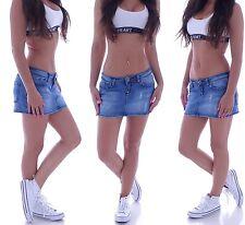 Damen Jeans Minirock Miniröcke Rock Hellblau Tiefsitzend M67