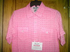 LADIES WESTERN SHIRT BY WRANGLER NEW WITH TAG  SIZE LARGE SNAPS SHORT SLEEVES