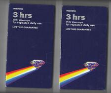 Blank 2x pack VHS 3 HOURS VIDEO tapes *NEW & SEALED* cassette WOOLWORTHS E180
