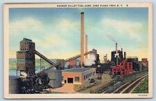 Postcard NY Troy Hudson Valley Fuel Corporation Coke Plant Vintage Linen O03