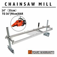 "Fit 14"" - 36"" Chainsaw Guide bar Chain Saw Mill Log Planking Lumber Aluminum"
