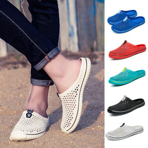Unisex Slip On Garden Mules Clogs Shoes Sports Sandals Beach Swim Slippers Shoes