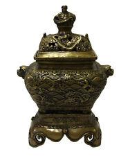 Chinese OrientalFine Bronze Metal Incense Burner Display cs3075