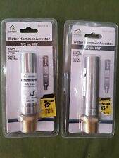 (2) New 1/2 in Stainless Steel Mpt Straight Water Hammer Arrestor Qty: 2