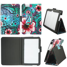 FLOWERY PAISLEY FOLIO CASE FOR KINDLE FIRE HDX 7 2013 SLIM STAND TABLET COVER