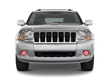 Bright RED LED Fog Light Halo Ring Kit for Jeep Grand Cherokee 05-10