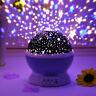 Rotazione Luce Notturna LED Proiettore Bambini Soffitto Stella Cielo Luna Camera