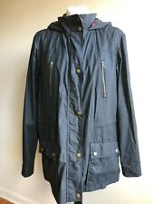 Orvis XL River Road Black Wax Cotton Field Jacket Coat Hood Flannel Plaid Lined