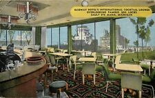 Ojibway Hotels International Cocktail Lounge Sault Ste Marie Michigan Postcard