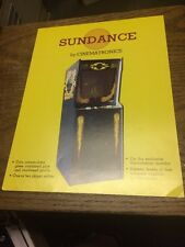 Cinematronics SUNDANCE Arcade Video RARE VECTOR Game flyer- original