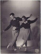 Audrey et Ary danseurs Paris Vintage argentique ca 1950