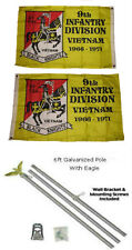 2x3 2'x3' 9th Infantry Division 2ply Flag Galvanized Pole Kit Eagle Top