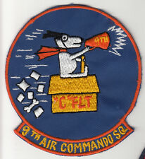 Wartime Snoopy 9th Air Commando Squadron Patch
