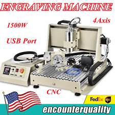 New Listing15kw Usb 4 Axis Cnc 6040 Router Engraver Millingdrilling Machine Vfd Spindle