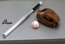 1/6 Scale Baseball Bat + Glove + Ball set For Hot Toys Figure Body