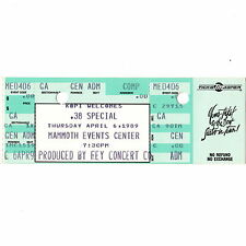 .38 Special & House Of Lords Full Concert Ticket Stub Denver Co 4/6/89 Mammoth