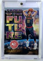 2018 18 Panini NBA Hoops Faces of the Future Winter Trae Young Rookie RC #5