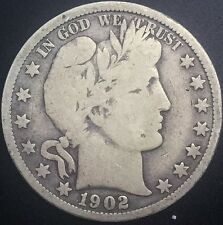 1902  P Barber Half Dollar  USA 50 Cents Decent Coin #2