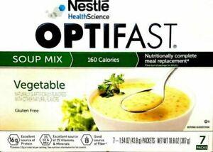 OPTIFAST 800 VEGETABLE SOUP -1 BOX - 7 SERVINGS - NEW & IMPROVED FORMULA