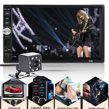 7inch Double 2 DIN Car MP5 MP3 Player Bluetooth Touch Screen Stereo Radio Camera