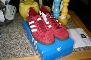 BNIB Rare Adidas Spezial Trainers Burgundy & White with Gum Sole UK Size 9