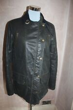 TOPSHOP Wax Country Style Coat Jacket UK 6 - 8 Small