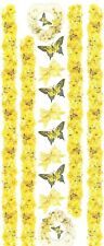 ~ Flowers Yellow Rose Butterfly Border Frances Meyer Stickers JUMBO SALE PRICE ~