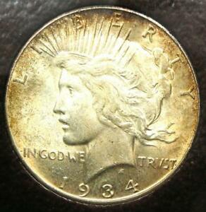 1934-S Peace Silver Dollar $1 Coin - Certified ICG MS61 (BU UNC) - $3,000 Value!