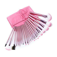 Professional 22 Pcs Kabuki Make Up Brush Set and Cosmetic Brushes Case Pink