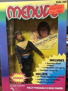 "VINTAGE 1983 MENUDO JOHNNY 8"" FIGURE Latin Boy Band Mtc Toys W27"