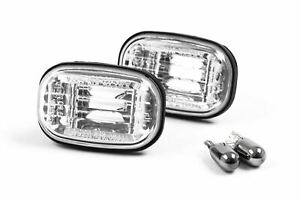 Toyota Celica 93-99 Chrome Side Indicators With Bulbs Pair Set Driver Passenger