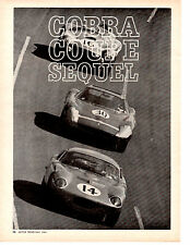 1965 SHELBY COBRA DAYTONA COUPE ~ ORIGINAL 2-PAGE PREVIEW ARTICLE / AD