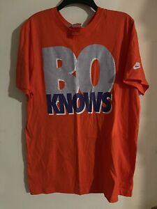 Vintage Inspired BO JACKSON Bo Knows T-shirt Nike Mens Size Large TShirt Red Tag