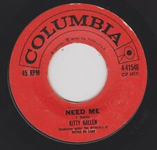 KITTY KALLEN {50s Vocal Pop} NEED ME / THAT OLD FEELING ♫hear