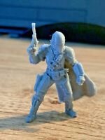 Mandalorian with Cape, Blaster + Beskar Armour (Star Wars Legion) 3D UNPAINTED