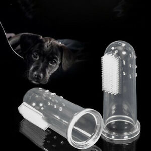 Rubber Pet Finger Toothbrush Silicone Gloves Cat Dog Teeth Cleaning Pet Supplies