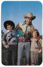 AD POSTCARD,PAUKER'S OFFICIAL,WESTERN HERO ROY ROGERS SWEATERS ON KIDS