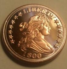 1 OZ COPPER ROUND COIN 1800 BUST .999 FINE COPPER