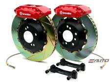 Brembo Front GT BBK Brake 4pot Red 328x28 Slot Disc Rotor Tiburon 03-08 GK27