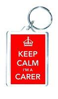 Carer Keyring Gift - Keep Calm I'm A Carer - Ideal Novelty Gift Present