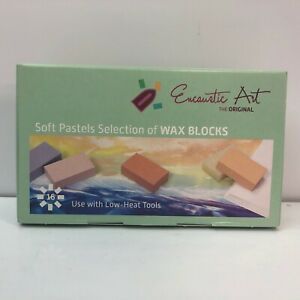 Encaustic Art Wax 16 Wax Block Colors Soft Pastel Selection New in Box Painting