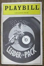 LEADER OF THE PACK Playbill 1985 FINE Ellie Greenwich, Darlene Love,Jasmine Guy