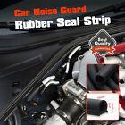 D-Type Rubber Edge Trim Car Door Trunk Seal Strip Noise Weatherstrip 13mm 2M 7ft