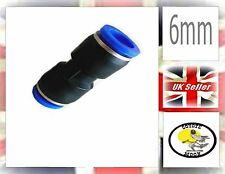 Pneumatic fittings hose tube push fit connector 6mm UK SELLER