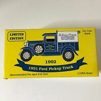 Eastwood 1931 Ford Pickup Truck Bank DieCast 1/25 Scale 1992 Ltd Edition