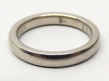James Avery 14K White Gold Wedding Band Sz 5.75 Ring Mark 10:9 Estate Signed