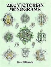Lettering, Calligraphy, Typography: 2,100 Victorian Monograms by Karl Klimsch...