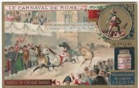 Running Of The Horses Chevaux The Rome Carnival  c1898 Trade Ad Card